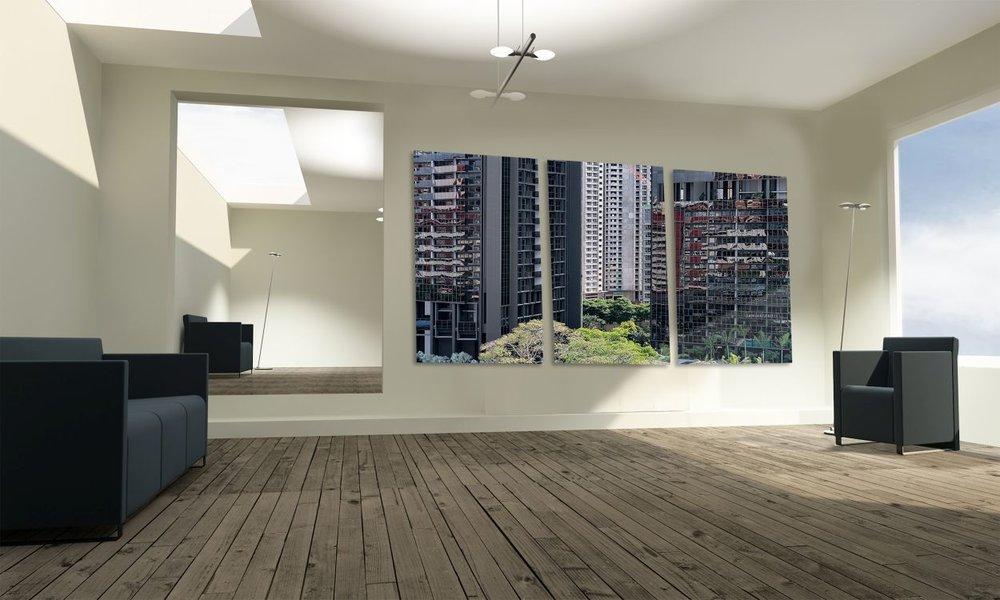 singapore condominium large wall mounted print office