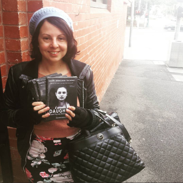 Director Sarah Jayne (me)  in St Kilda with 5 fresh copies to hand over to ATOM
