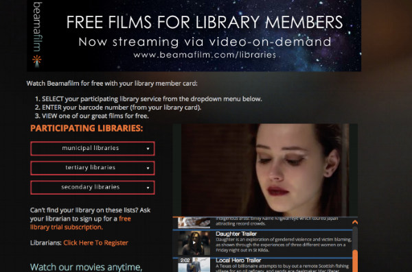Beamafilm Website Library Page