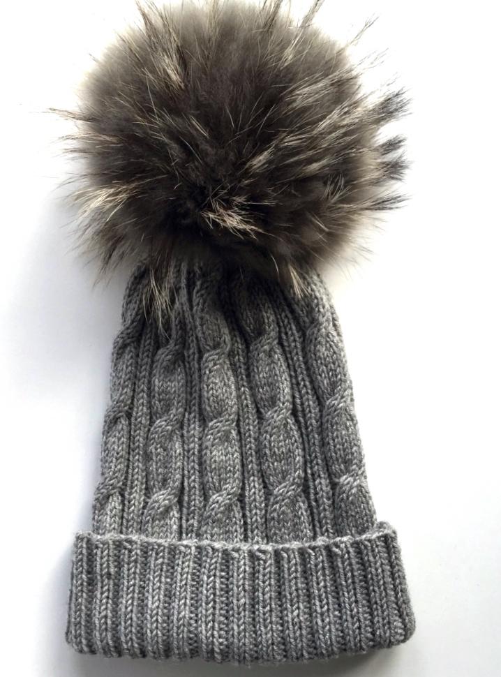 Pom Pom Hat grey