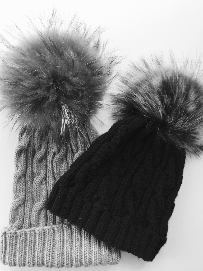 free pom pom hat knitting patterns