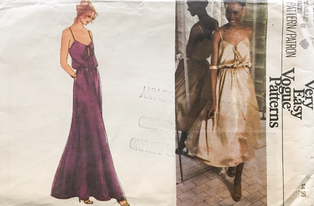 Lovely vintage envelope for my Vogue Vintage Dress Pattern 7225