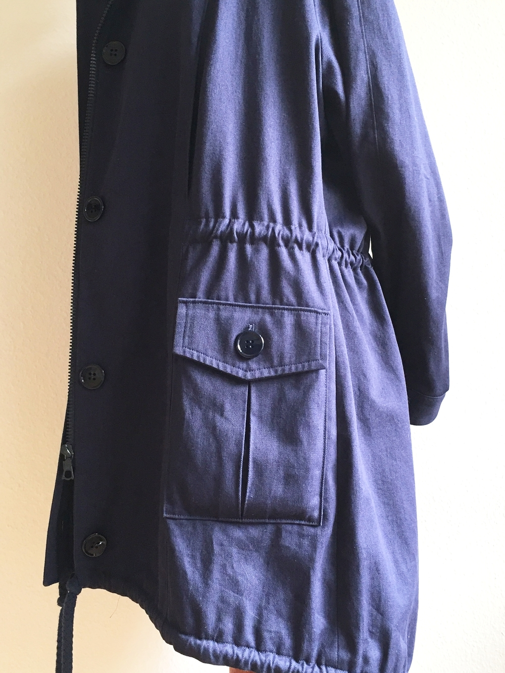Oversized Parka - Pocket Detail