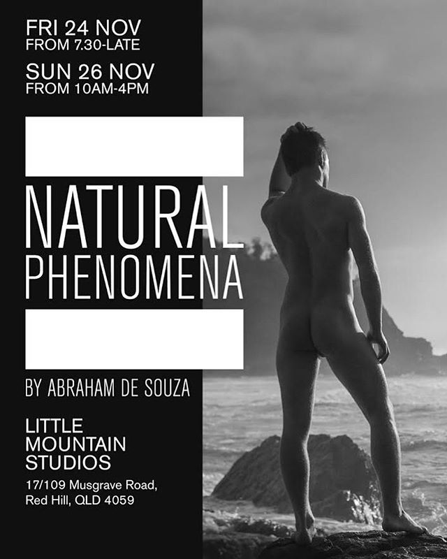 Join us next Friday evening for an exhibition of nudes by @abrahamdesouza! . #brisbaneevents #weekendnotes #artexhibition #brisbaneart #bneart #nudephotography