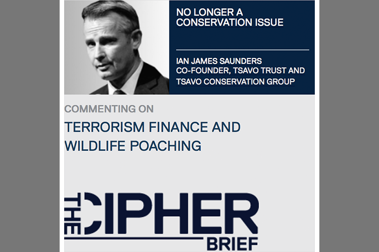 TSAVO CONSERVATION GROUP CO-FOUNDER IAN SAUNDERS DISCUSSES THE POTENTIAL LINKS BETWEEN TERRORIST FUNDING AND THE ILLEGAL WILDLIFE TRADE.