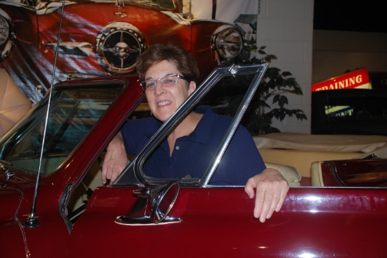 Sue in a vintage Studebaker!