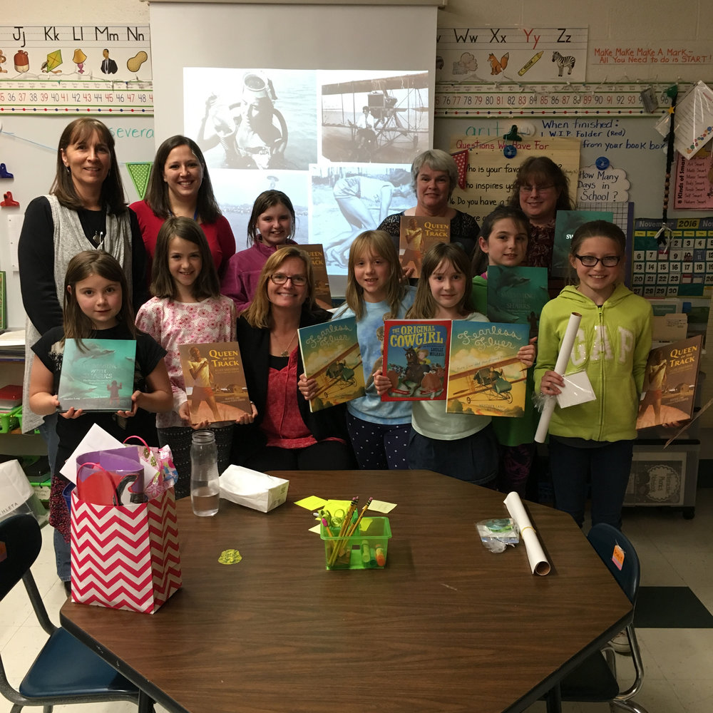 Meeting with Michelle Gajda and her Girls with Grit Book Club!