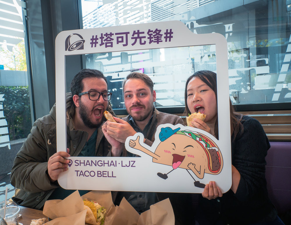 No time for photos. More Taco Bell