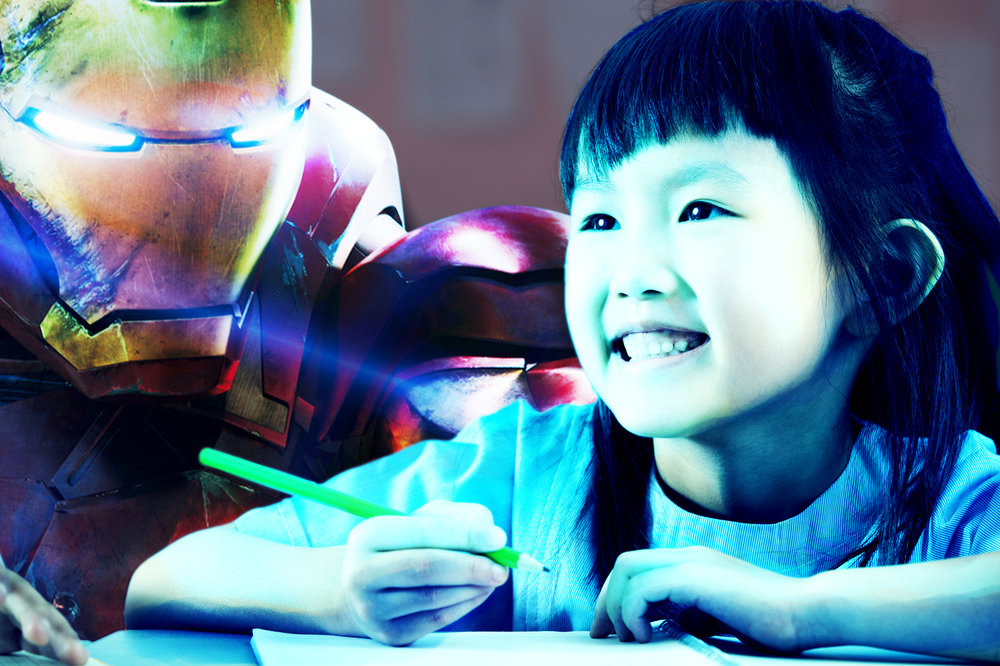 Disney/Marvel has ensured no use of lasers will be allowed from teachers dressed as Iron Man