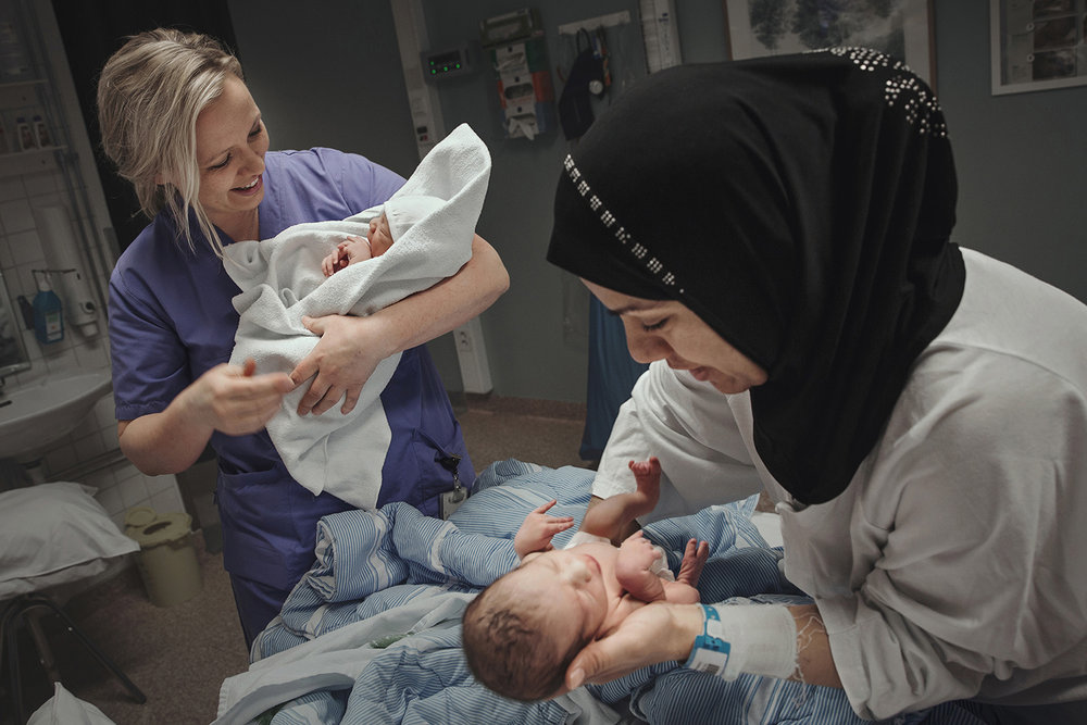 Johanna is a mother of twins herself, so delivering twins is something very special for her.