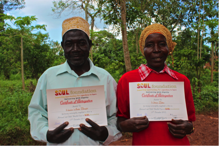 VHT members present their certificates of participation in S.O.U.L. Foundation's Maternal and Child Health class