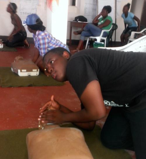 Youth were trained in CPR, first aid and fire safety.