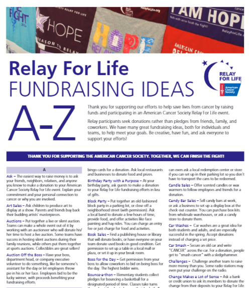 Fundraising Sponsorship Campus Relay For Life