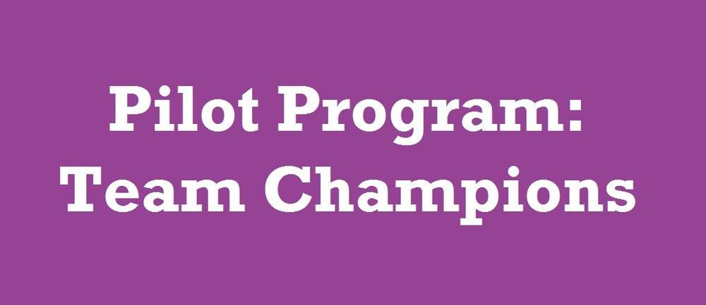 Pilot Program: Team Champions