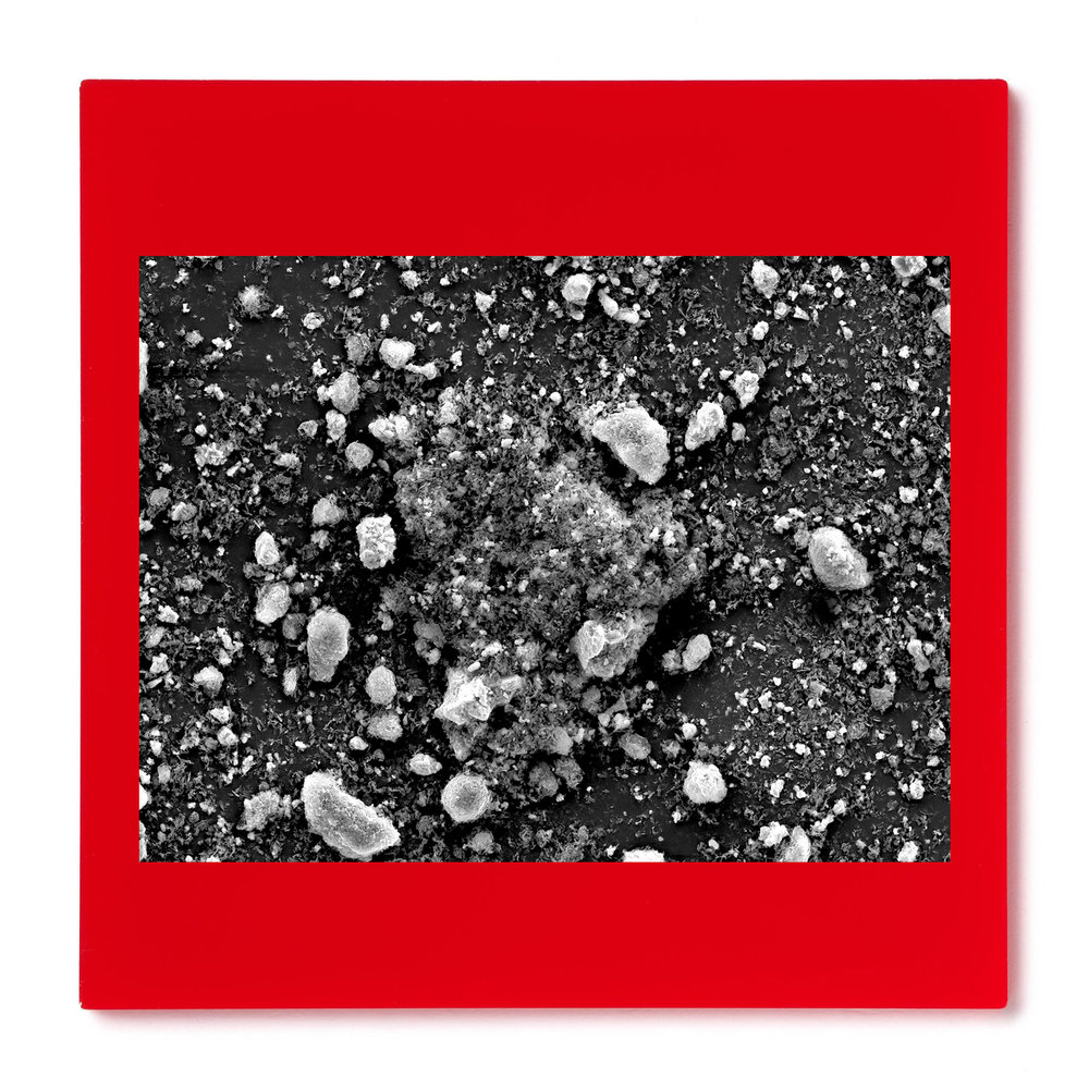 Red Pigment #1. Gelatin silver print mounted on acrylic. 2014