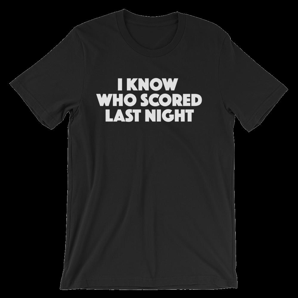 i-know-who-scored---mens---white_mockup_Wrinkle-Front_Black.png