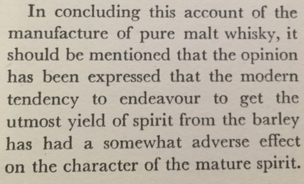 From J. Marshall Robb's book, Scotch Whisky. Published 1950.