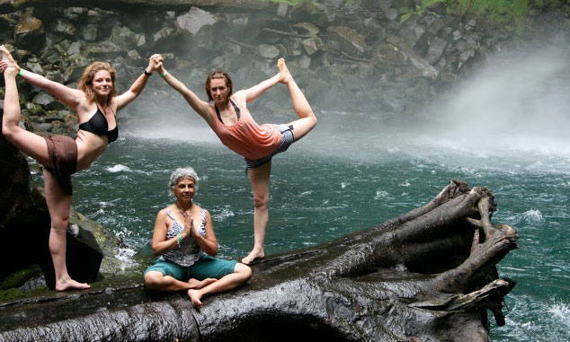 yoga-waterfall