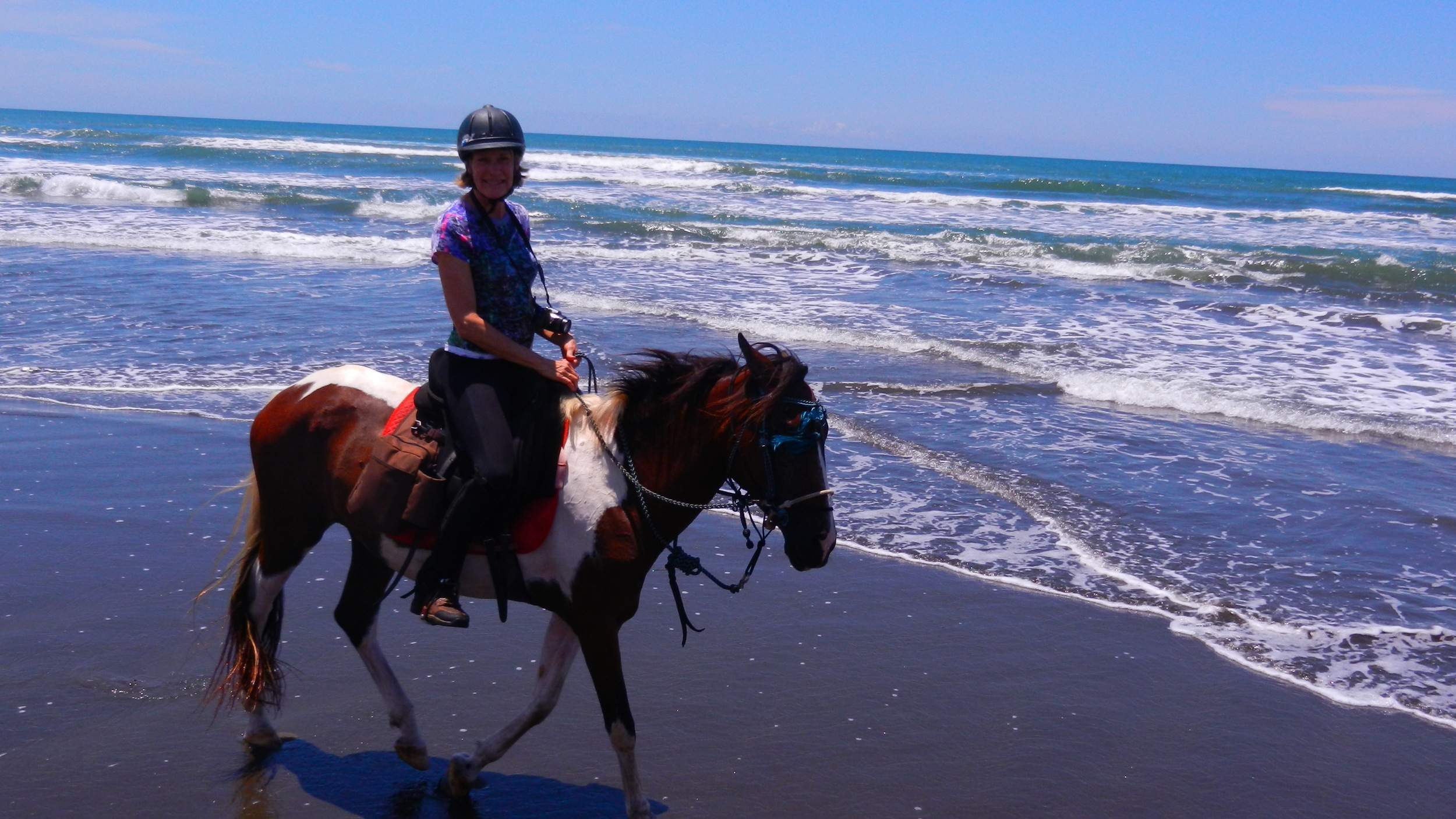 Horse riding on the beach Costa Rica
