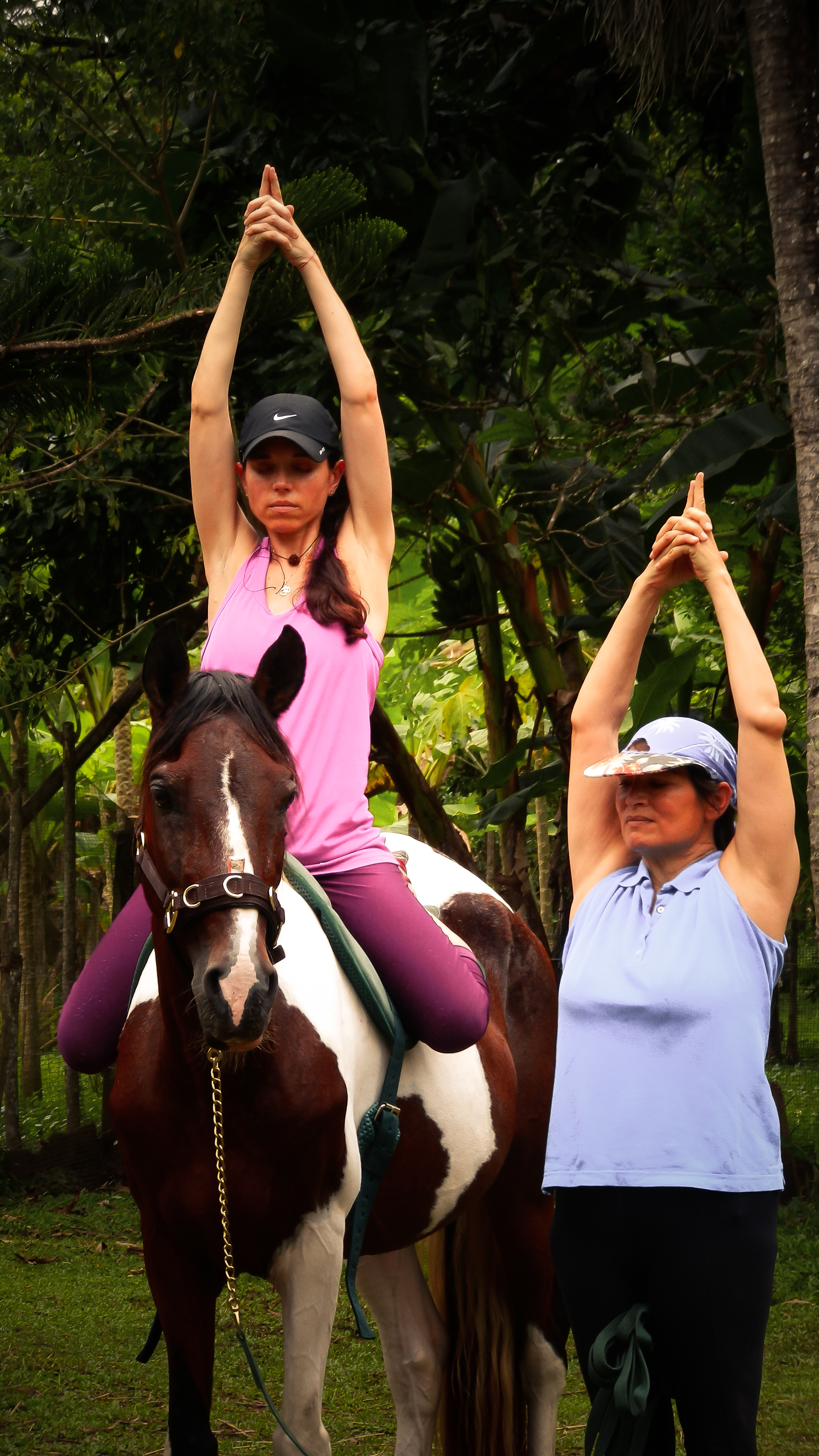 Breathing in rhythm and balance with the horse.