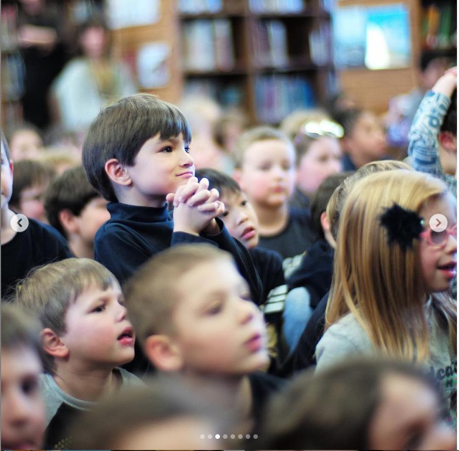 Captivated fans enjoying Sherri's presentation.