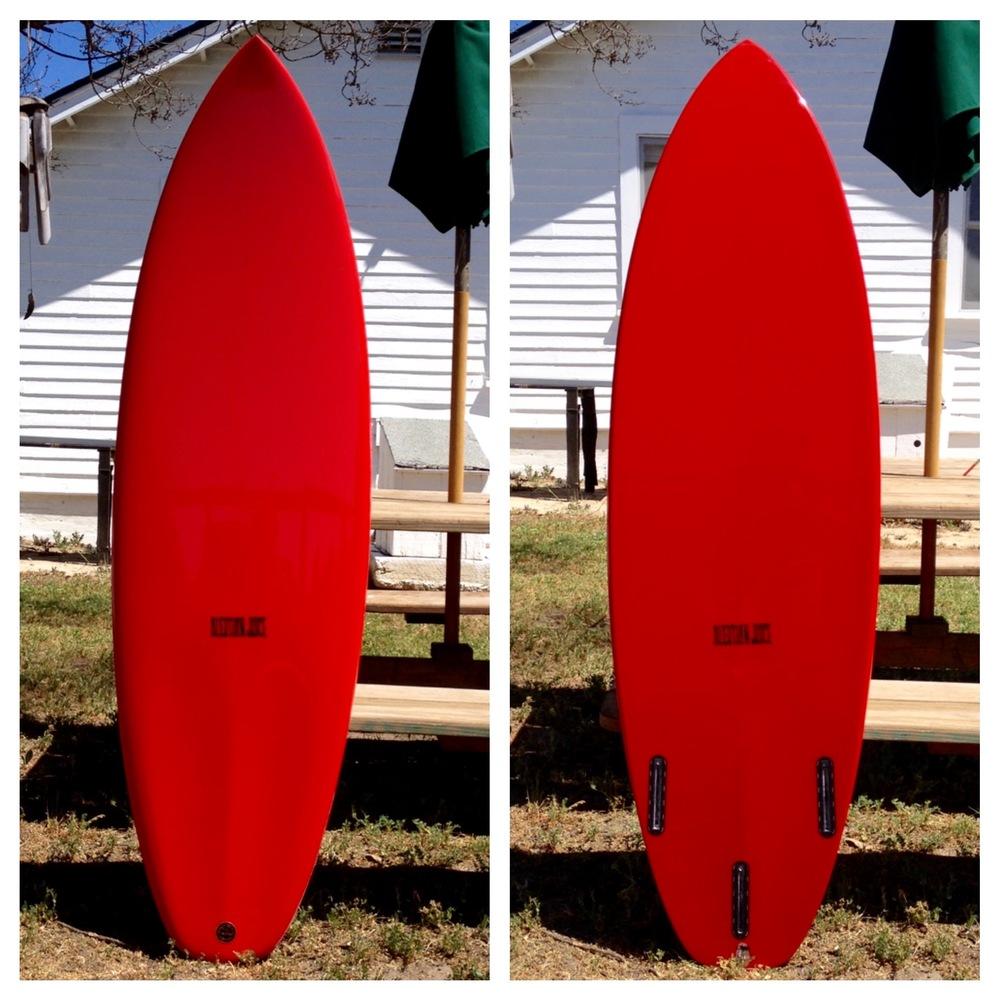 "5'6"" X 19"" X 2.175"" MicroStubby for Nate Tyler. Note scooped footwells on deck tail."