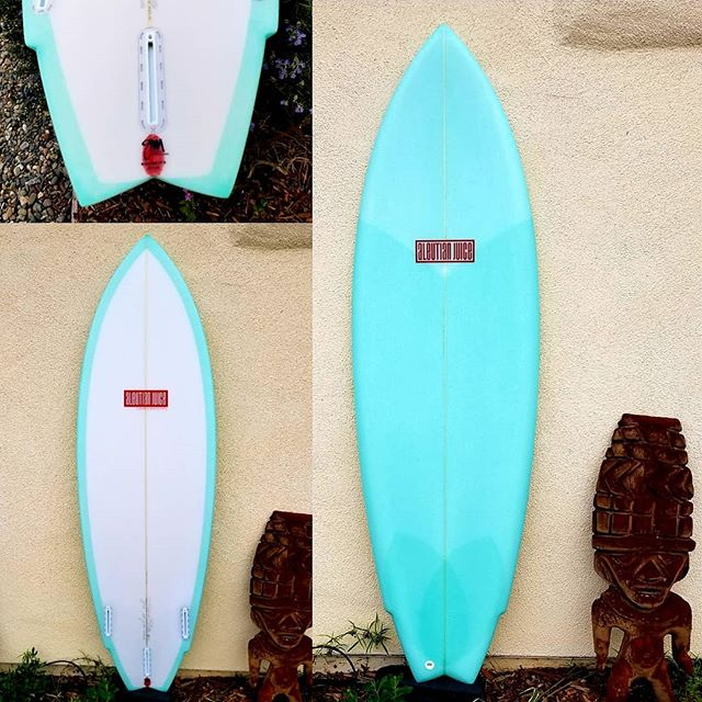 "5'10"" postmodern twin for @kitaloha  15.0"" N X 20.3"" WP X 15.2"" T X 2.5"" max thickness. @usblanks  62A NR, -1/2 N R Gift-wrapped by @watermansguild @surfboardsbyclutch @greggae13"
