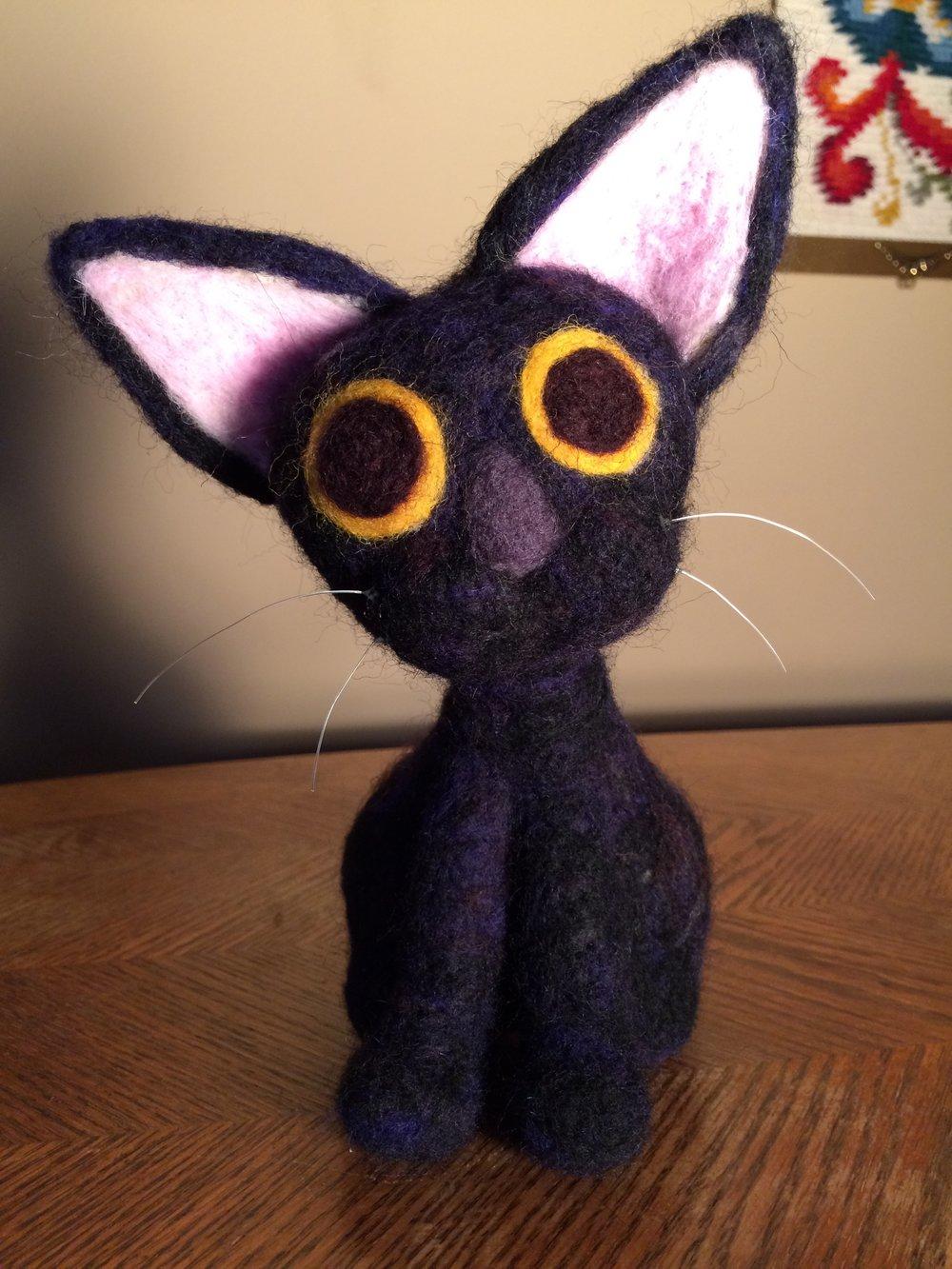 Needle-felted Cat.
