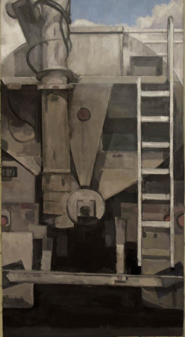 "Trucking on Route 404, acrylic on canvas, 44"" x 24"" On Exhibit, Addison/Ripley Fine Art, DC"