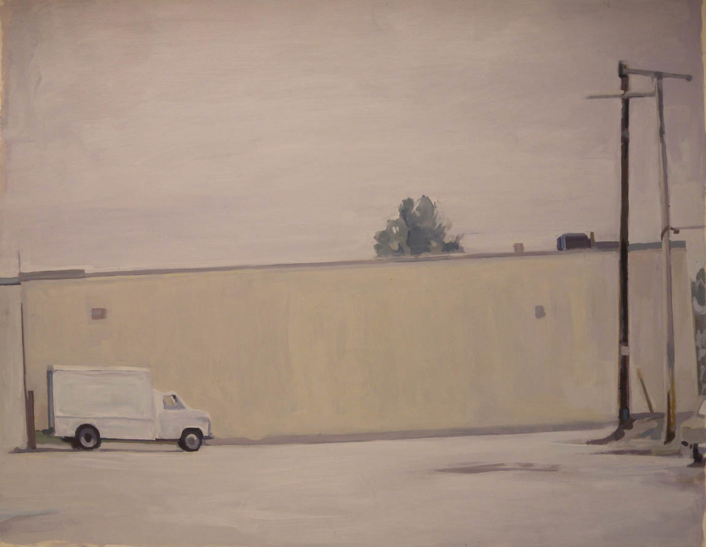 "White Truck/White Wall, acrylic on paper, 30"" x 38"" Private Collection"