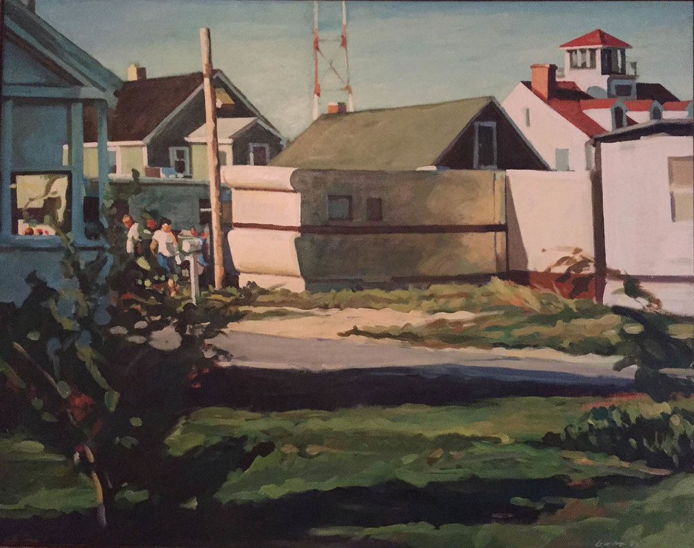 "Trailer, Cape Henlopen Ferry, acrylic on canvas, 37"" x 47"", 1985, Private Collection"
