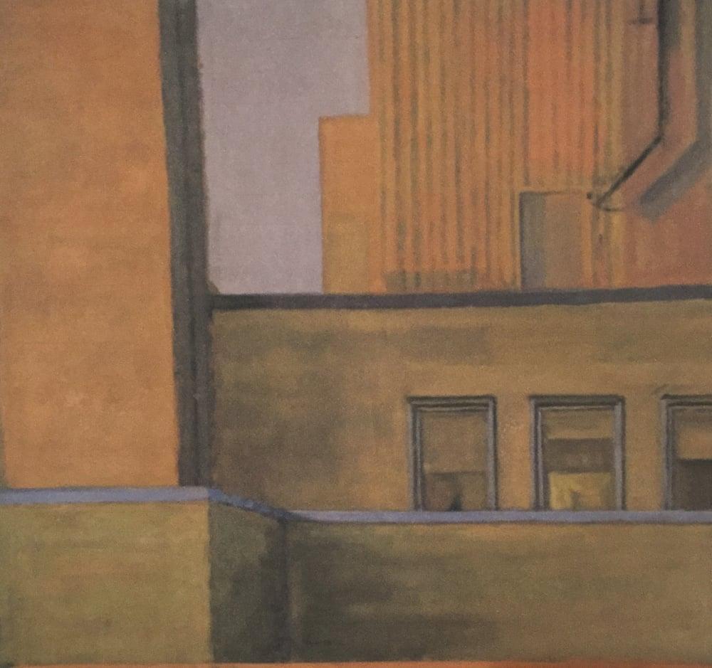 "Bee Bee Chartreuse #4,acrylic on canvas,27 3/4"" x 29 1/2"" On Exhibit, AU Katzen Center, DC"