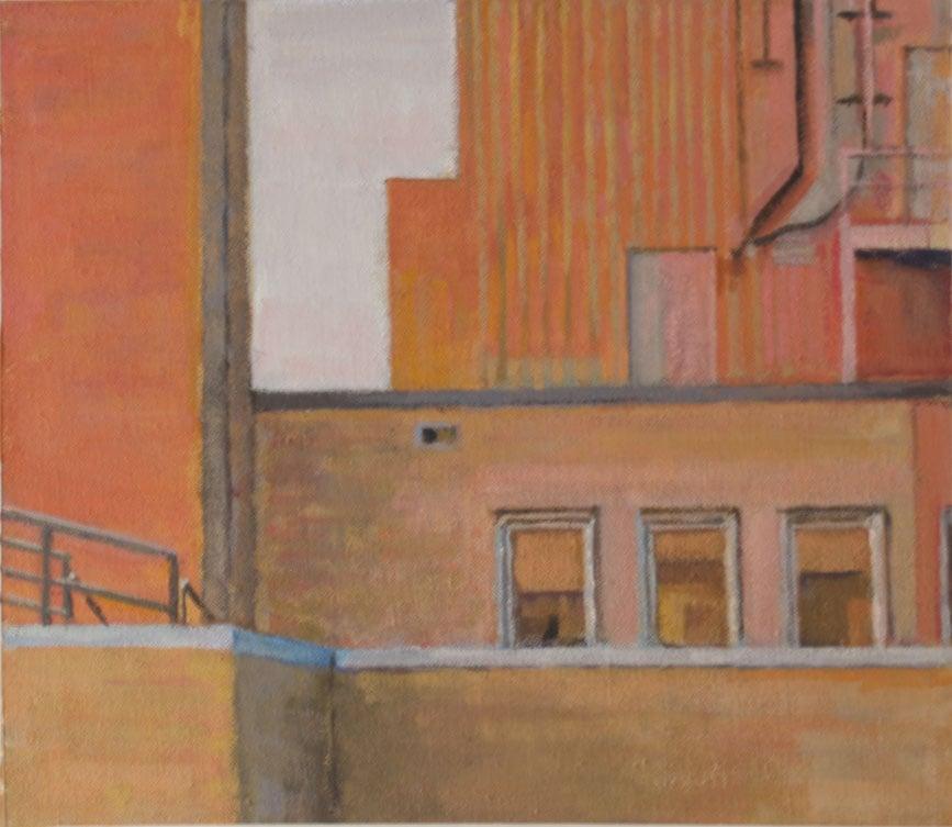 "Bee Bee Orange,acrylic on canvas,13 1/2"" x 15 1/2"", 2012 On Exhibit, Addison/Ripley Fine Art, DC"