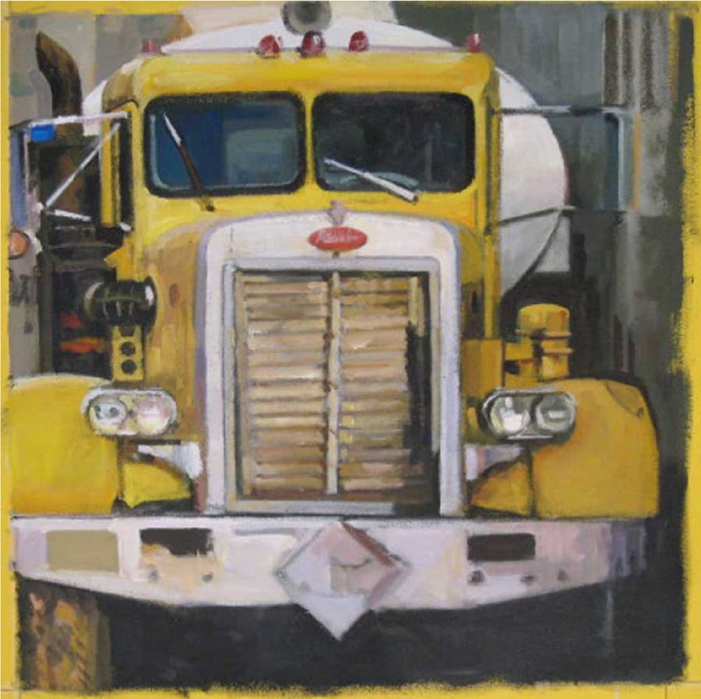 "Old Yeller (truck front), acrylic on canvas, 24 1/4"" x 23 1/2""                                                                   Private Collection"
