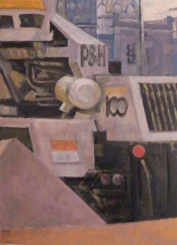 """P&H 100, acrylic on canvas,21 1/2"""" x 15 1/2"""", 2013"""