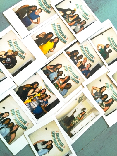 """I brought an instant camera and set up a """"photo booth"""" on a blank space of wall"""