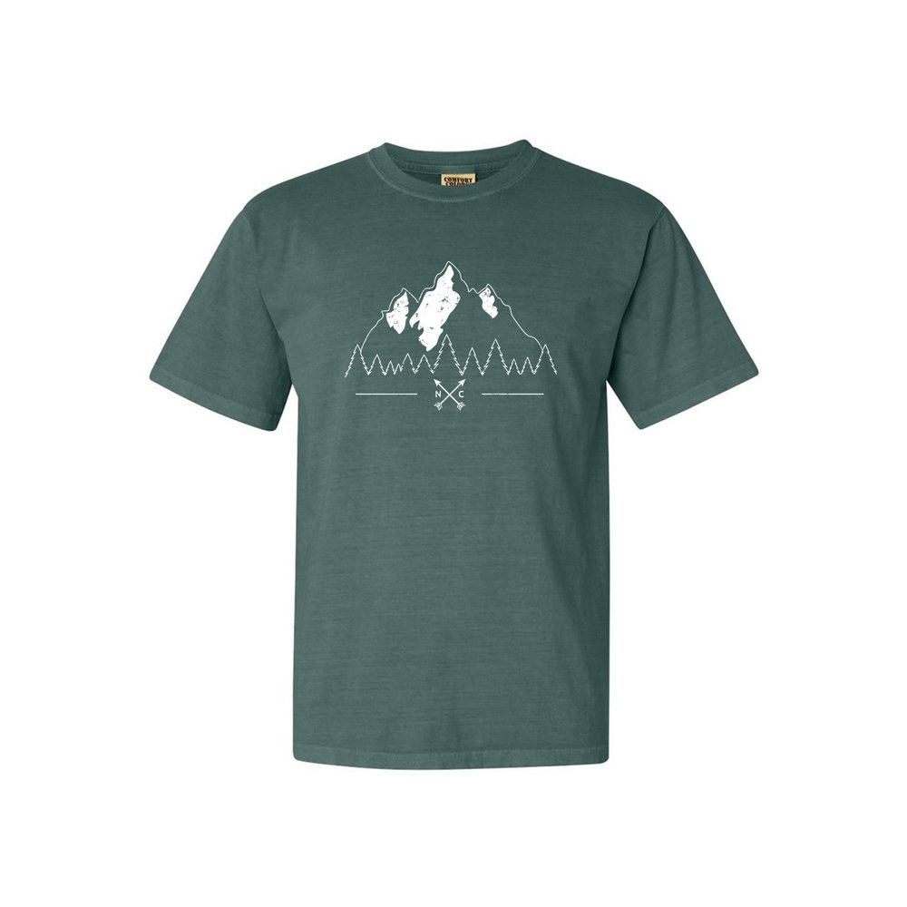 North Carolina Mountains T-Shirt (Shown in Comfort Colors Blue Spruce)