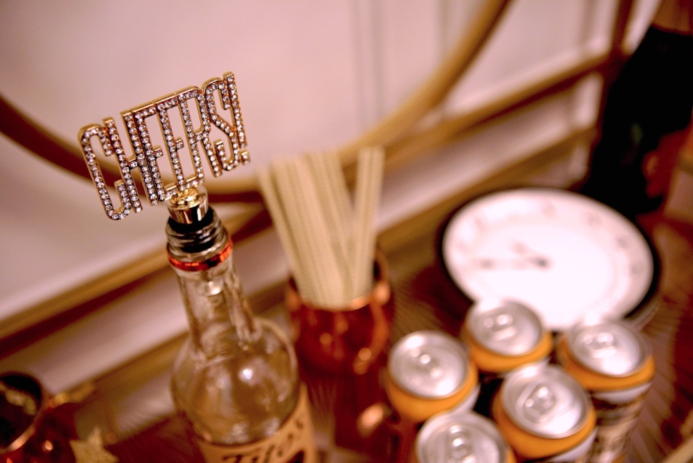 This Cheers! bottle stopper was gifted to me from my friend for Christmas. She had no idea I was doing this bar cart and it matches perfectly! Thanks Sarah!