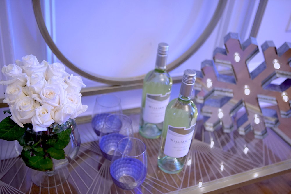 North Coast Sauvignon Blanc from William Hill Estate Winery. Marquee light from Michael's.