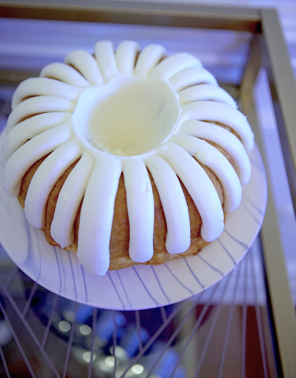 White chocolate raspberry cake from Nothing Bundt Cakes...all of their cakes are d-e-l-i-c-i-o-u-s.
