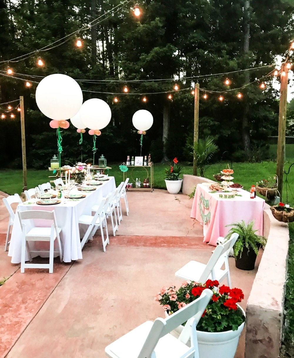 The string lights from Proxy Lighting created a beautiful glow and ambiance!