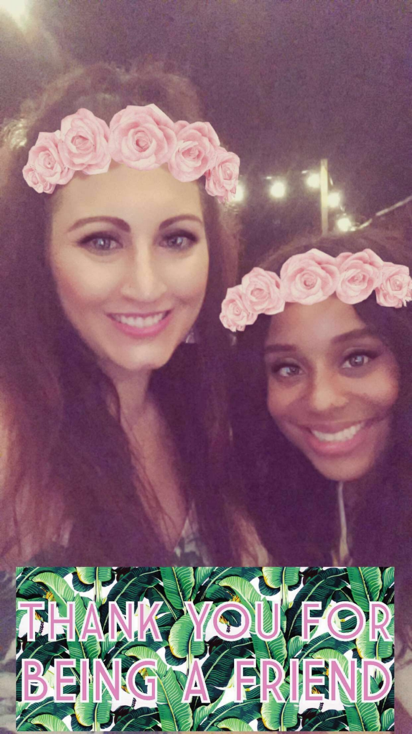 This rose crown filter showed up around midnight during the party! It had never been an option for my Snapchat until then so in my head it was released special, just for me, at my birthday party. I'll call it the Nylund filter from here on out!