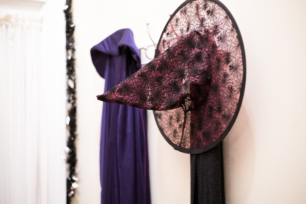 Throw some costume accessories on a coat rack or hooks near a door so all your creatures are ready to go!