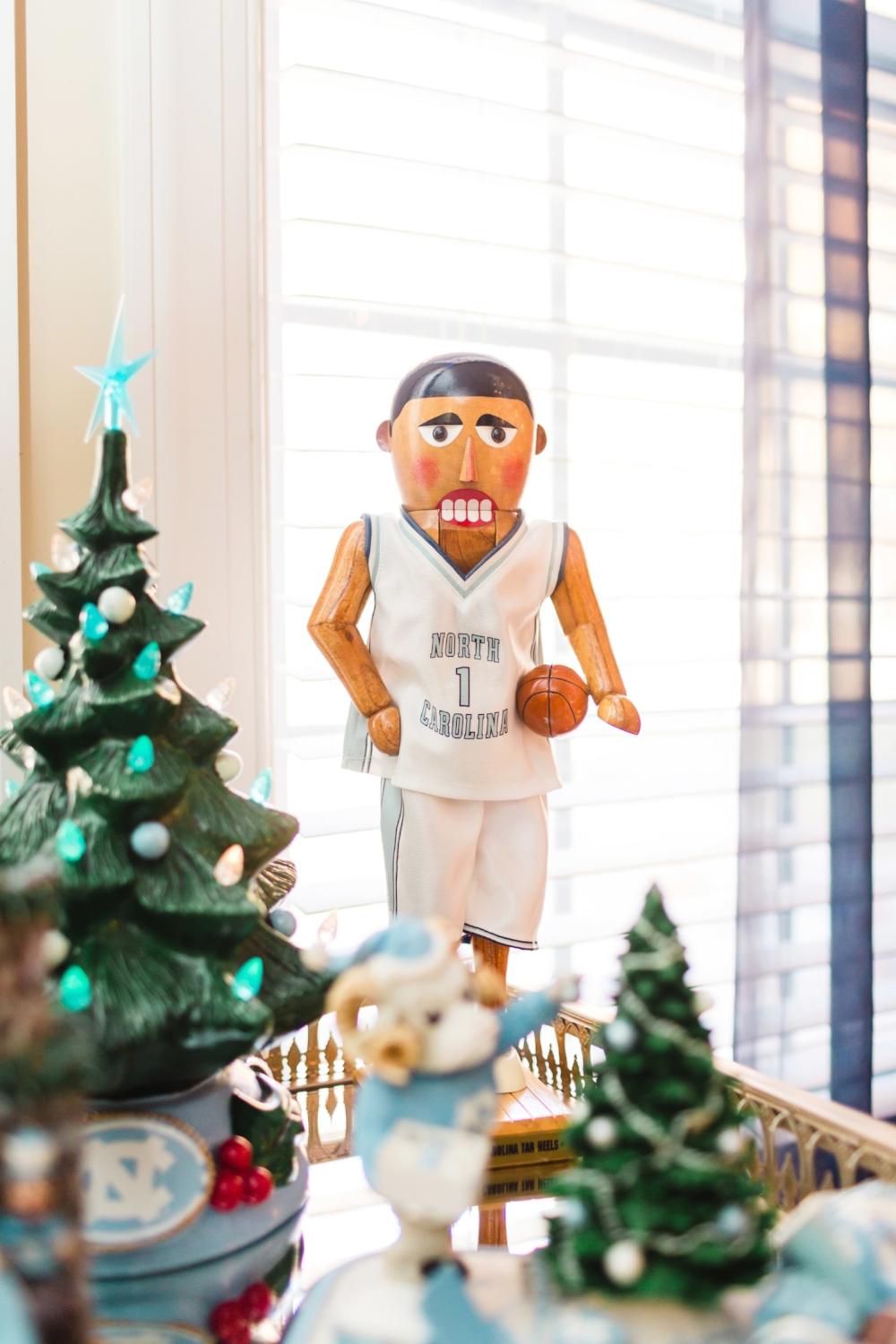 My Uncle Jim gave me this Nutcracker many years ago. It was 1 of 500 made, and when I met my best friend Sarah, she had the matching football player! We displayed them together when we were college roomies!