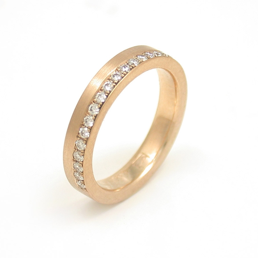 Asymmetric Diamond Pave Eternity Band
