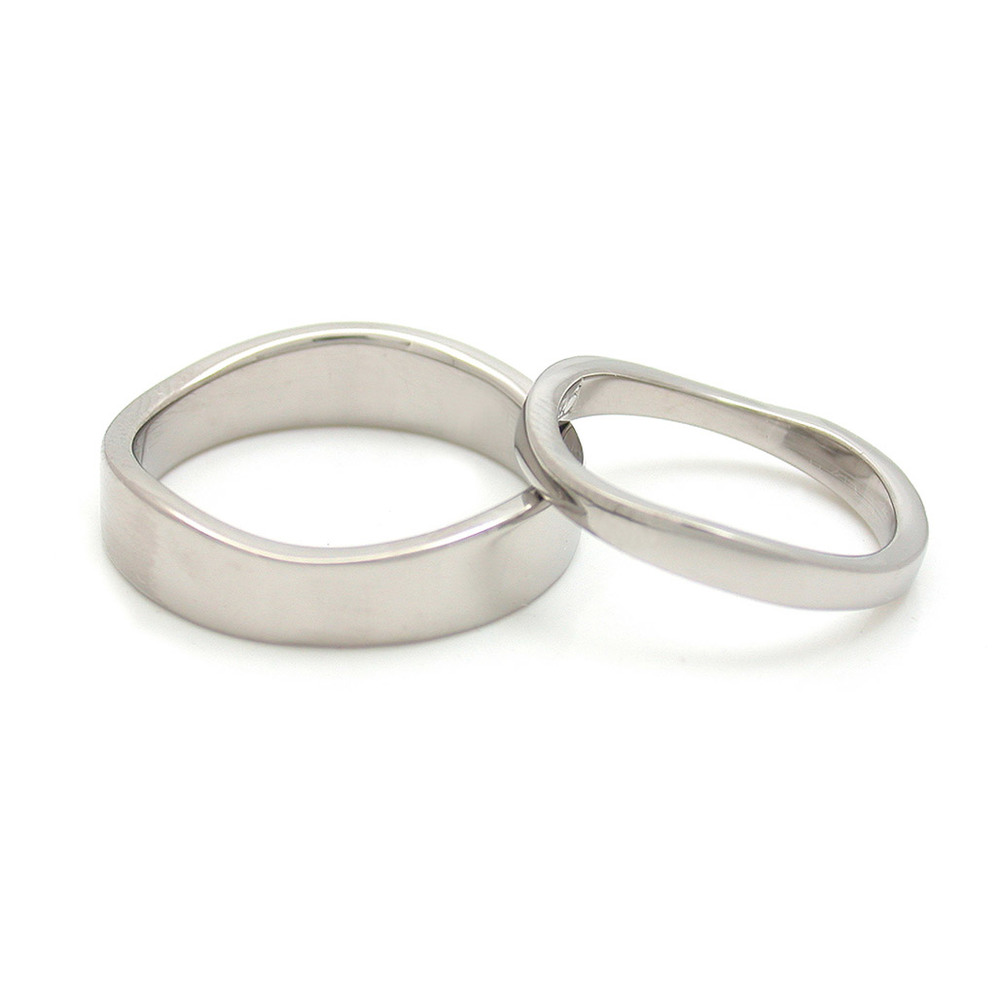 Wave Edge Wedding Bands