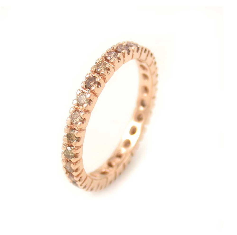 Rose + Champagne Diamond Eternity Band