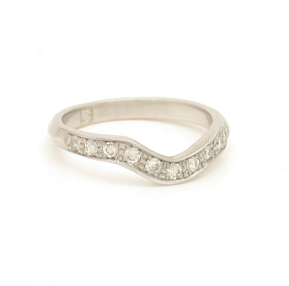 Custom Interlocking Pave Wave Ring