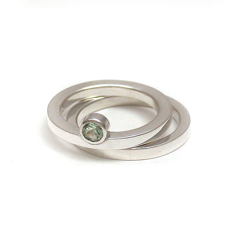 Off-Side Green Tourmaline Solitaire