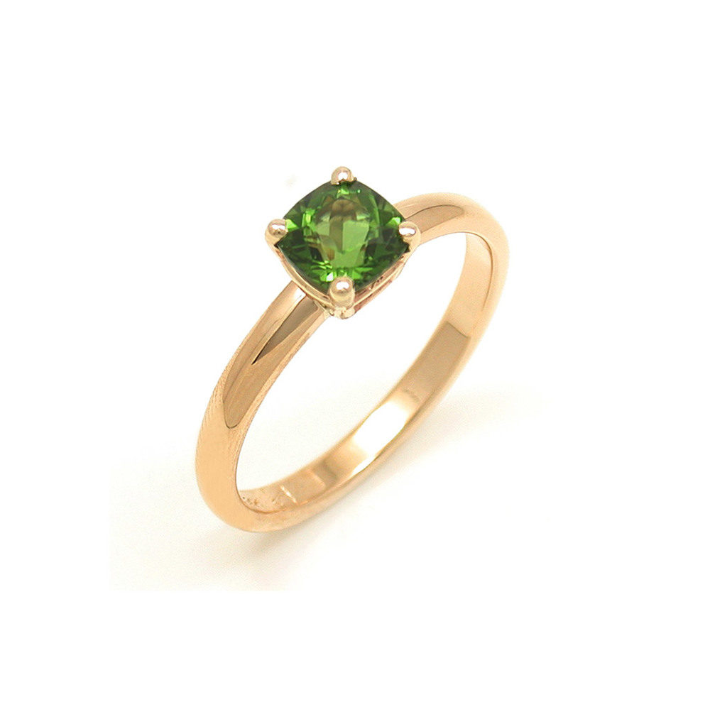 Cushion Cut Tsavorite Solitaire